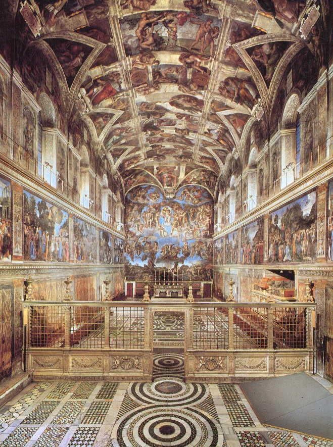 chapelle sixtine 224 rome